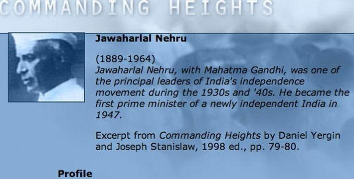 Economic Architect: Jawaharlal Nehru