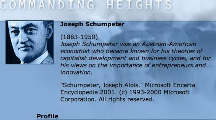 Economic Architect: Joseph Schumpeter
