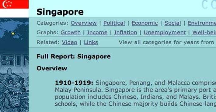Country Report: Singapore