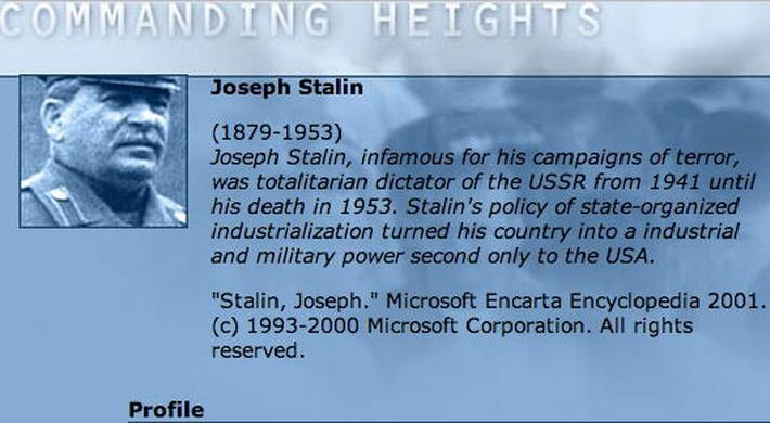 Economic Architect: Joseph Stalin