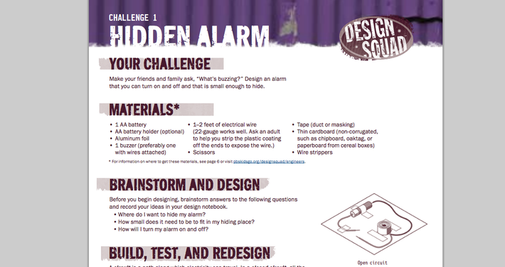Design Squad Nation | Hidden Alarm Challenge: Unit 1: It's Electric, Challenge 1