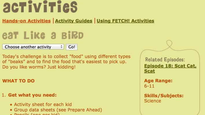 Fetch! | Eat Like a Bird