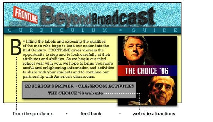 The Choice '96 Teacher's Guide