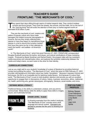 Merchants of Cool Teacher's Guide