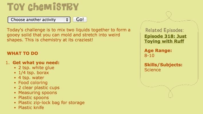 Fetch!   Toy Chemistry