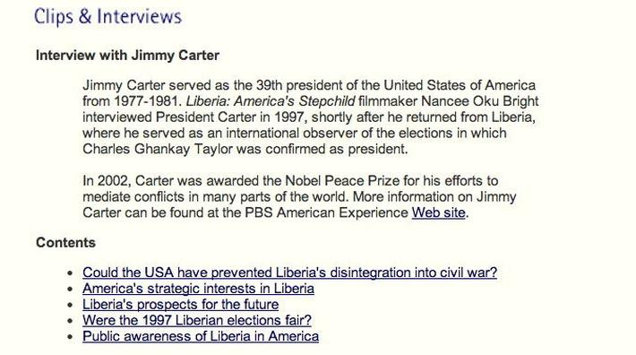Interview with Jimmy Carter