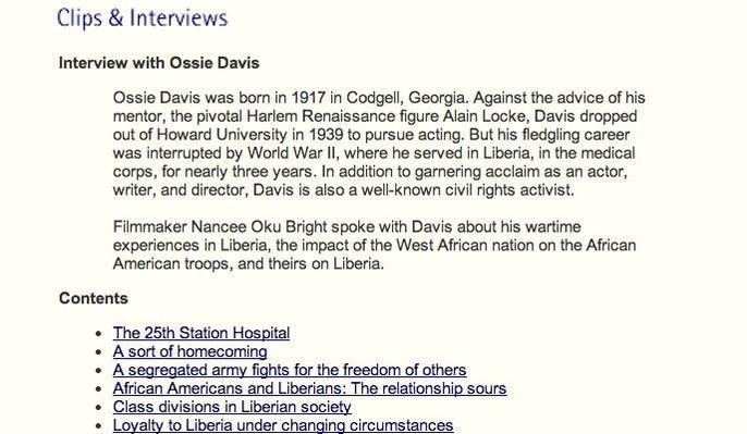 Interview with Ossie Davis