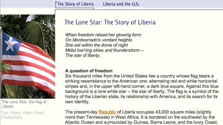 The Lone Star: The Story of Liberia