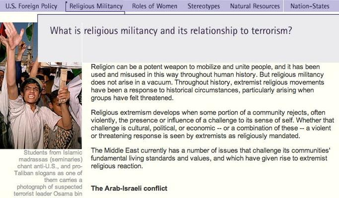 Connecting Questions: Religious Militancy