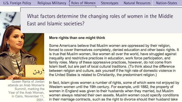 Connecting Questions: Roles of Women