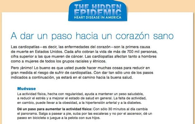 The Hidden Epidemic: Heart Disease in America, A dar un paso hacia un corazon sano