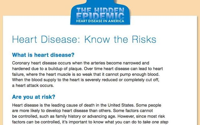 The Hidden Epidemic: Heart Disease in America, Heart Disease: Know the Risks