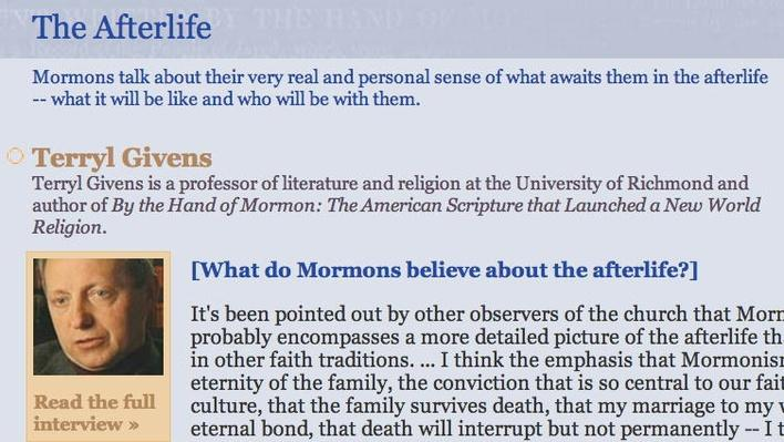 The Mormon Faith: The Afterlife