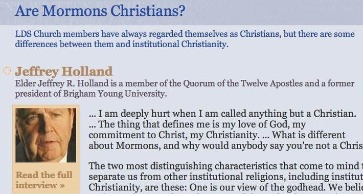 The Mormon Faith: Are Mormons Christians?