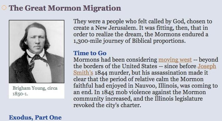 The Great Mormon Migration