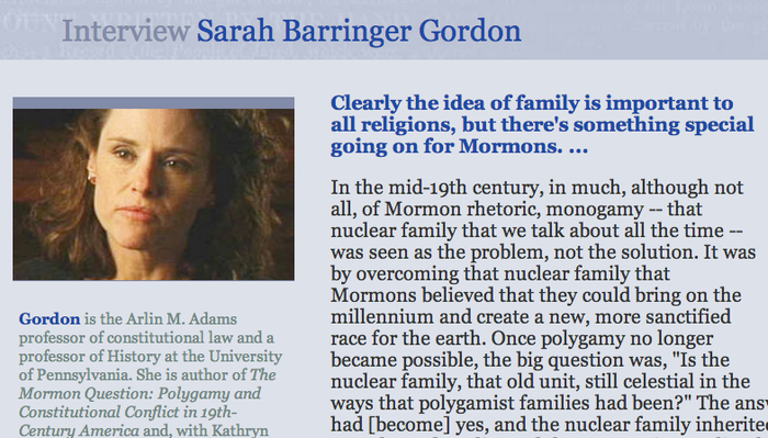 Interview: Sarah Barringer Gordon