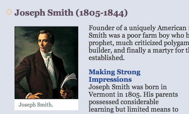 People & Events: Joseph Smith (1805-1844)