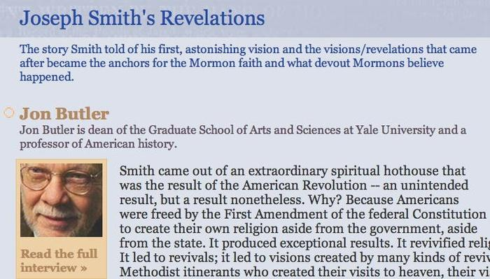 The Mormon Faith: Joseph Smith's Revelations
