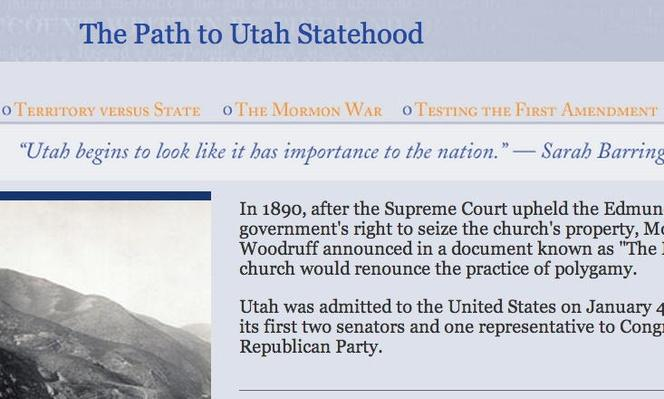 The Path to Utah Statehood: Manifesto to Statehood