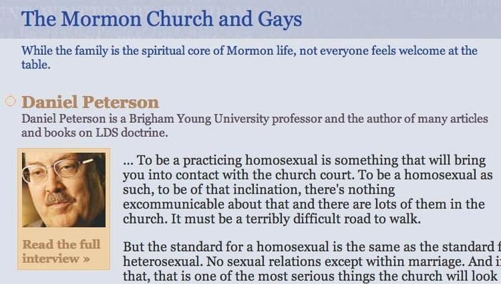 The Mormon Church and Gays
