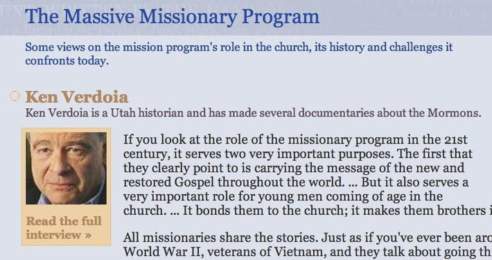 The Massive Missionary Program