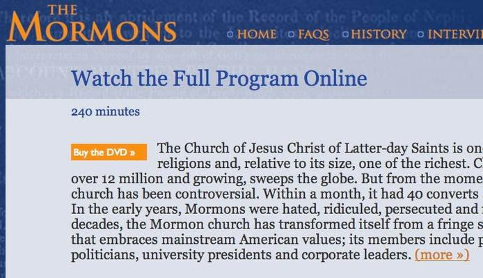 The Mormons: Full Program Online