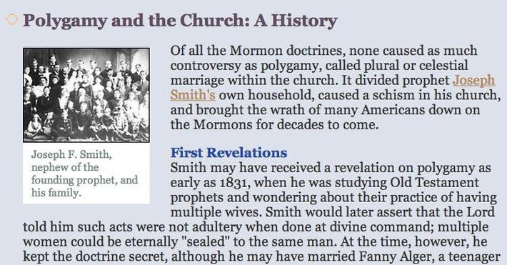 Polygamy and the Church: A History
