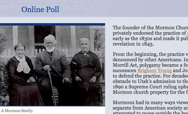 The Mormons: Online Poll