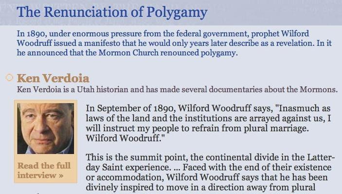 The Renunciation of Polygamy