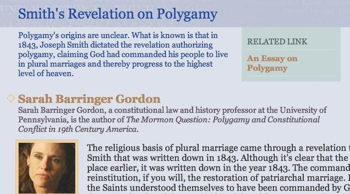 Smith's Revelation on Polygamy