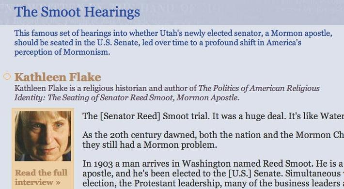The Smoot Hearing