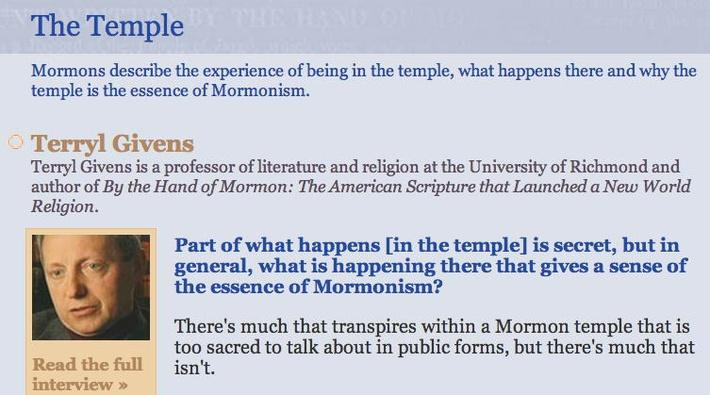 The Mormon Faith: The Temple