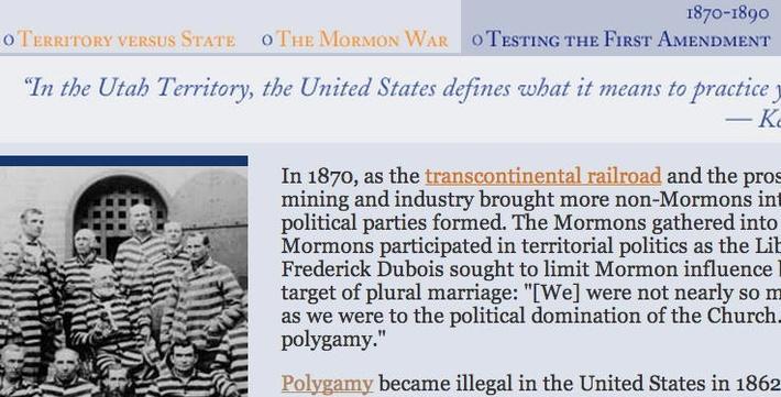 The Path to Utah Statehood: Testing the First Amendment