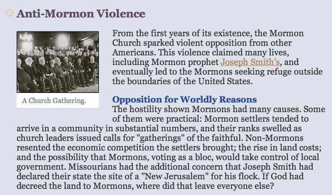 Anti-Mormon Violence