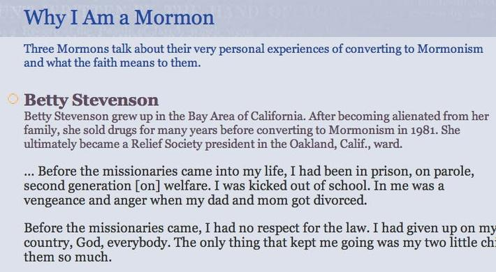 The Mormon Faith: Why I am a Mormon