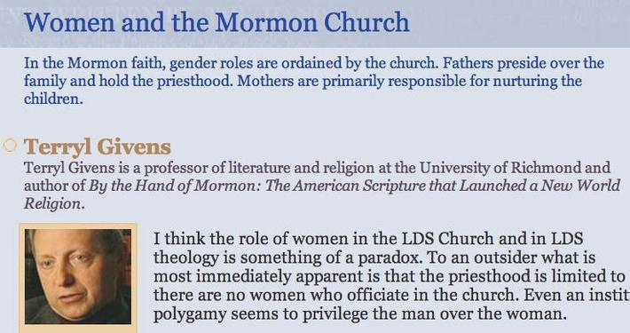 Women and the Mormon Church
