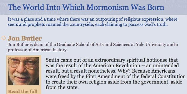 The World Into Which Mormonism Was  Born