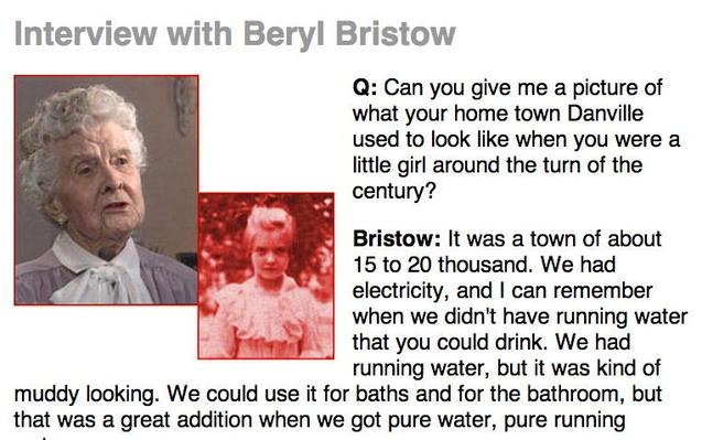 Age of Hope, Eyewitness Interview: Beryl Bristow
