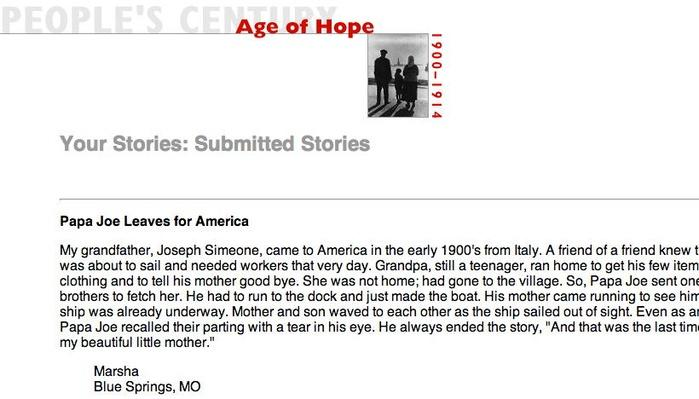 Age of Hope, Selected Submissions