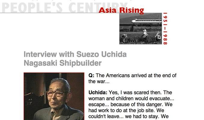 Asia Rising, Eyewitness Interview:  Suezo Uchinda