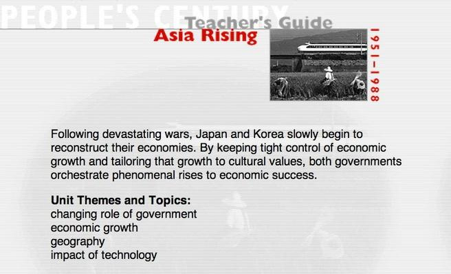 Asia Rising, Teacher's Guide