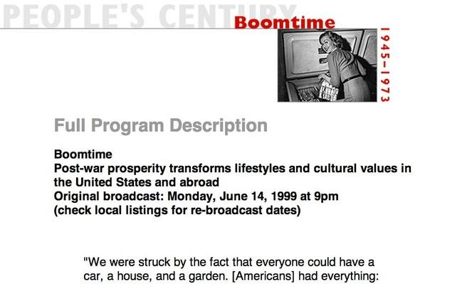 Boomtime, Full Program Description