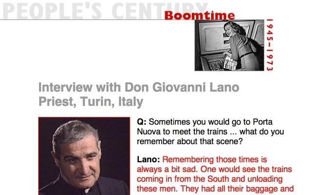 Boomtime, Eyewitness Interview: Don Giovanni Lano