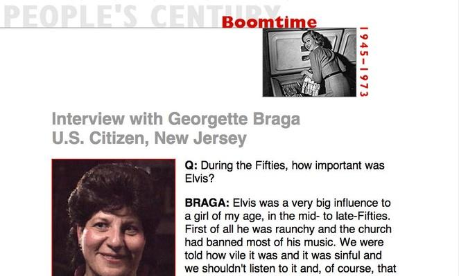 Boomtime, Eyewitness Interview: Georgette Braga