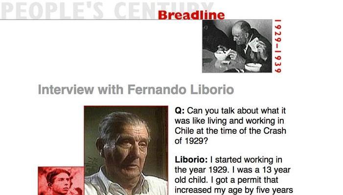 Breadline, Eyewitness Interview: Fernando Liborio