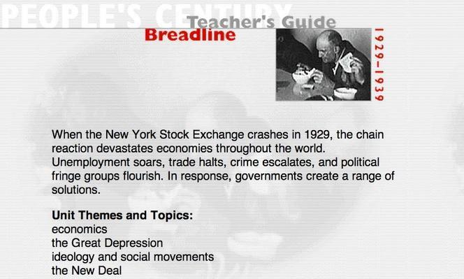 Breadline, Teacher's Guide