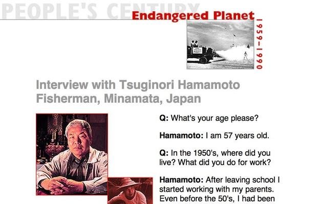 Endangered Planet, Eyewitness Interview: Tsuginori Hamamoto