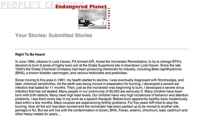Endangered Planet, Selected Submissions