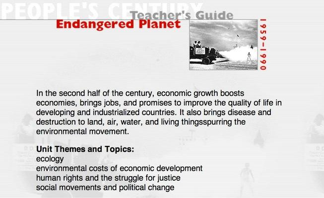 Endangered Planet, Teacher's Guide