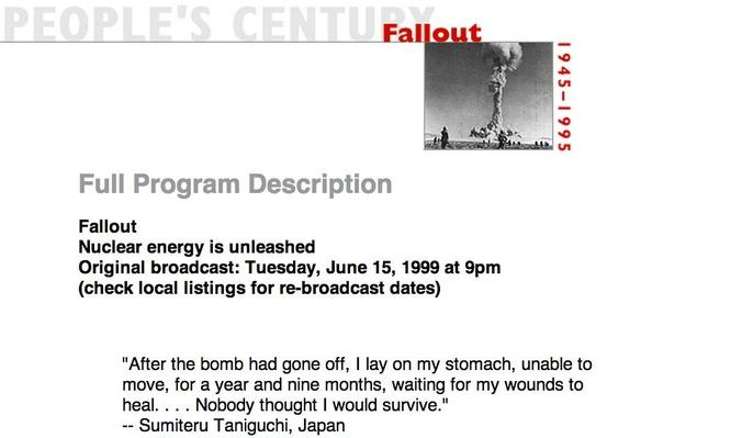 Fallout, Full Program Description